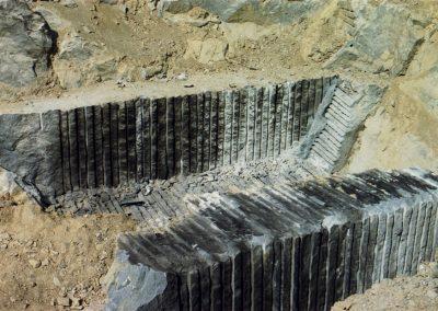Cava Zalende bancata con blocco
