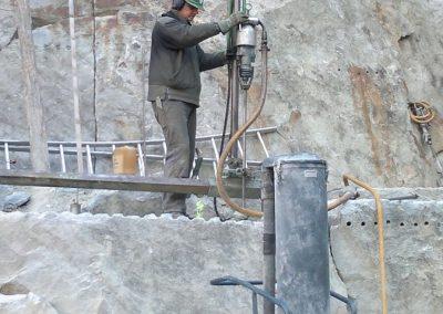 Omar / perforazione verticale blocco con aspirapolvere