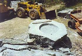 Fontana piazza comunale Poschiavo  / prime lavorazioni
